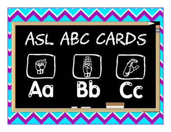 ASL ABC Flashcards with Finger Dot Handwriting Practice