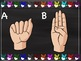 ASL ABC's and Numbers (1-20) Borders with Chalkboard background.