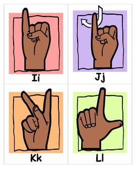 ASL ALPHABET SIGN LANGUAGE FLASHCARDS special education speech therapy cards pdf