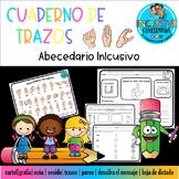ASL ALPHABETH BILINGUAL TRACE _Abecedario trazos SPANISH