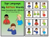 ASL Action Words Interactive Book and Activities
