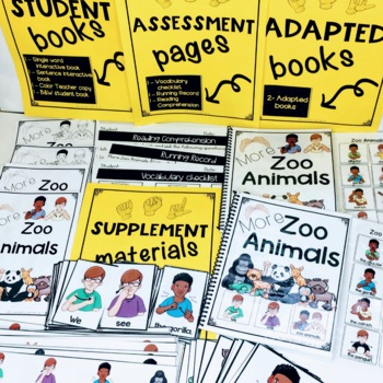 ASL Adapted Books for Guided Reading ANIMALS BUNDLE