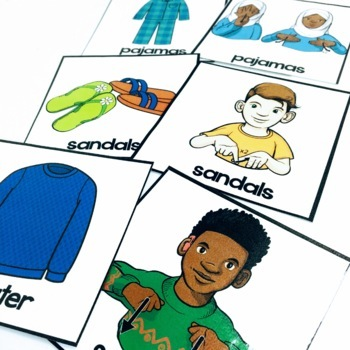 ASL Adapted Books for Guided Reading CLOTHES BOOK 2