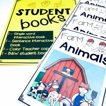 ASL Adapted Books for Guided Reading FARM ANIMALS