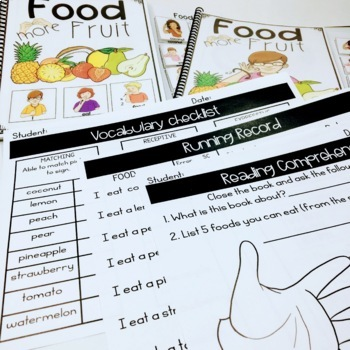 ASL Adapted Books for Guided Reading FOOD  MORE FRUIT
