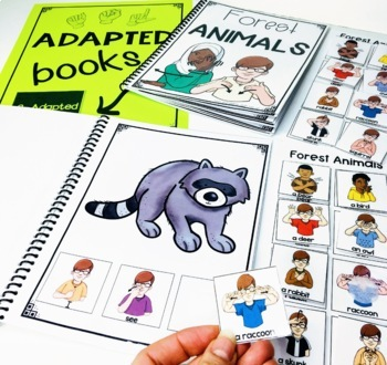 ASL Adapted Books for Guided Reading FOREST ANIMALS