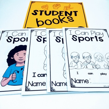 ASL Adapted Books for Guided Reading I CAN PLAY SPORTS