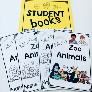 ASL Adapted Books for Guided Reading MORE ZOO ANIMALS