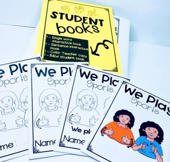ASL Adapted Books for Guided Reading WE PLAY SPORTS