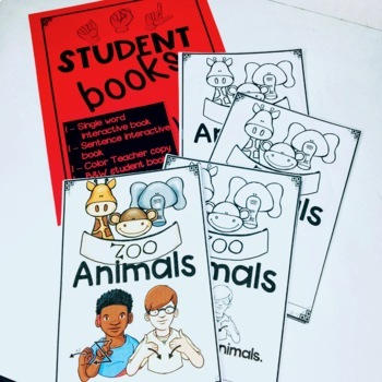 ASL Adapted Books for Guided Reading ZOO ANIMALS
