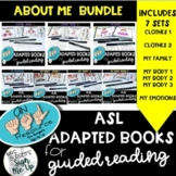 ASL Adapted books for Guided Reading ALL ABOUT ME BUNDLE