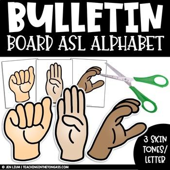 ASL Alphabet American Sign Language Clipart