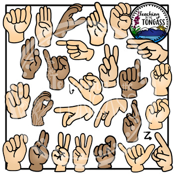 ASL Alphabet American Sign Language Clipart