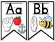 ASL Alphabet Banner - B&W Hands