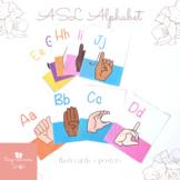 ASL Alphabet Flash Cards & Posters