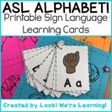 Sign Language Flashcards - ASL Alphabet!