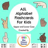 ASL Alphabet Flashcards For Kids (Upper and Lower Case)