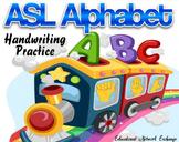 ASL Alphabet Handwriting Practice Worksheets
