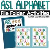 ASL Alphabet File Folder Activity