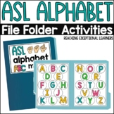 ASL Alphabet File Folder Activity
