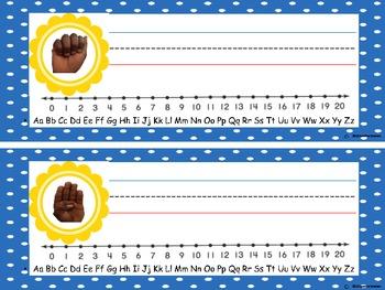 ASL Alphabet Name Plates