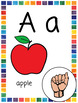 ASL Alphabet & Number Cards/Posters | ABC Pictures | Phonics