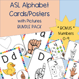 ASL Alphabet & Number Cards/Posters | Phonics BUNDLE | Ame
