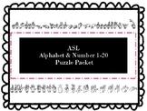 ASL Alphabet & Number Puzzles