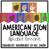 ASL Alphabet Pennants