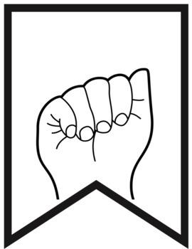ASL Alphabet Pennants