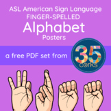ASL American Sign Language Alphabet Posters - Quicksand fo