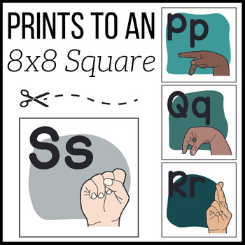 ASL Alphabet Posters   American Sign Language   ABC Signs