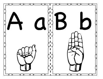 ASL Alphabet Posters! (Freebie)