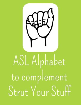 ASL Alphabet Posters to compliment PeacockTheme