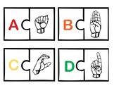 ASL Alphabet Puzzle Match
