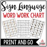 Sign Language Chart   WORD WORK CENTER