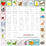 ASL Alphabet & Tracing Letters Placemat