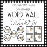 ASL Alphabet {Word Wall Cards • Farmhouse Theme Decor}