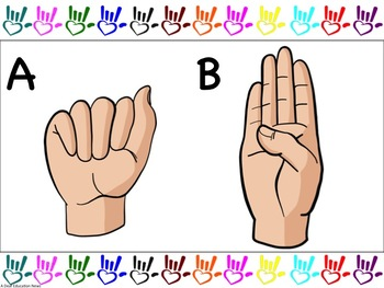 ASL: Alphabet and Number (1-20) Borders