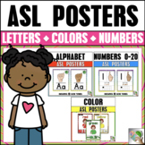ASL American Sign Language Alphabet, Number, and Color Poster Bundle