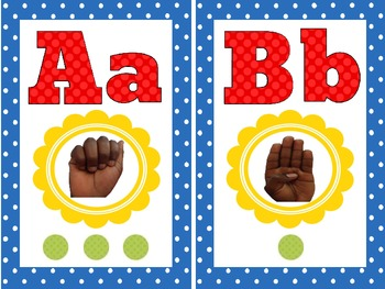 ASL, Alphabet and sound dots for the Classroom Wall