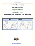 """ASL- American Sign Language, """"16 Money Words"""" for Deafness"""