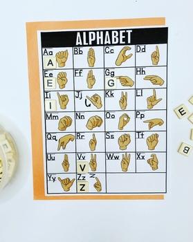 ASL American Sign Language Alphabet Chart (2 skin tones)