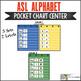 ASL American Sign Language Alphabet Pocket Chart Center