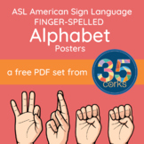 ASL American Sign Language Alphabet Posters - FREE! (Handw