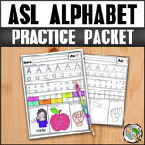 ASL American Sign Language Alphabet Practice Packet