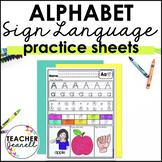ASL American Sign Language Alphabet Practice Packet