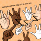 ASL (American Sign Language) Alphabet and Numbers 1-31 Clip Art (Personal Use)