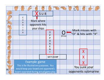 American Sign Language (ASL) Battleship