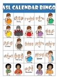 ASL (American Sign Language) Calendar Bingo